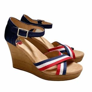 TOMS Red, White & Blue Patriotic Wedges